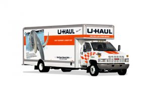 Large U-Haul rental truck.