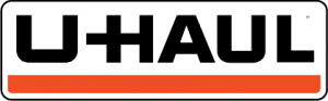 Uhaul black and orange logo.