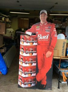 Budweiser racing life size poster | Hudson Household Online Auction