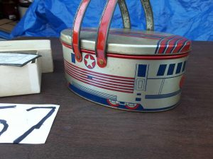 tin train lunchbox | Hudson Household Online Auction