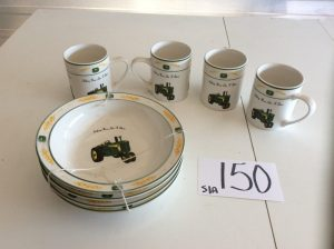 John Deere Ceramic Plates & Mugs | Des Moines Auction | Store It America