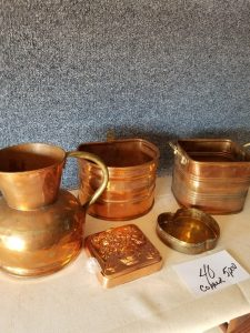 Copper Dishes at Multi Consignor Auction